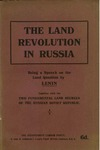 The land revolution in Russia: Being a speech on the land question