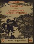 Program of the Communist International: Together with the statutes of the Communist International