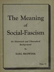 The meaning of social-fascism: Its historical and theoretical background