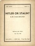 Hitler or Stalin?
