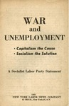 War and unemployment: Capitalism the cause, socialism the solution