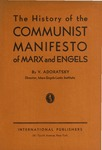 The history of the Communist manifesto of Marx and Engels