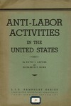 Anti-labor activities in the United States