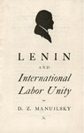 Lenin and international labor unity