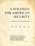 A strategy for American security: An alternative to the 1964 military budget by Seymour Melman