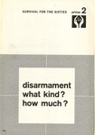 Disarmament: What kind? how much?
