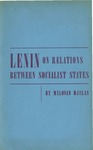 Lenin on relations between socialist states