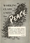 Working class unity for peace