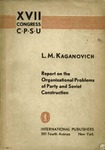 Report on the organizational problems of party and soviet construction