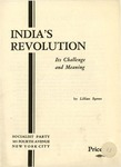 India's revolution, its challenge and meaning