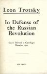 In defense of the Russian revolution: Speech delivered at Copenhagen, December 1932