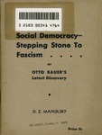 Social-democracy, stepping-stone to fascism or Otto Bauer's latest discovery