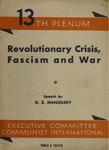 Revolutionary crisis, fascism and war: Speech