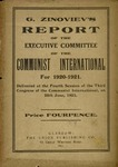 The report of the Executive Committee of the Communist International