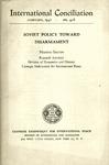 Soviet policy toward disarmament