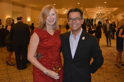Dr. Croes and wife Suzette at Cocktail hour