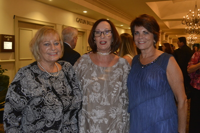 Kathie Canning (center) and guests