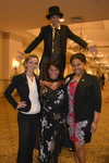 Professor Deb Weissman, student volunteers and stilt walker 1
