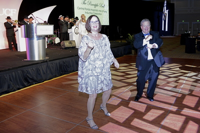 Kathie Canning and Gary Glassman dancing