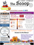 The Scoop, Vol. 4 Issue 7, October 2017 by Health Sciences Library