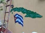 Painted Map of Cuba by Pratyush S. Goberdhan