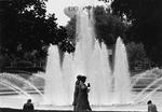 Reflecting Pond; two women walking