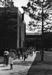 Math and Physics Building, students leaving