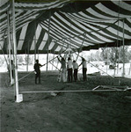 Theatre tent set up, 1970