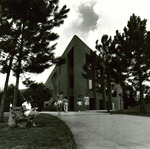 Education Building, girl reading book by David W. Bittle