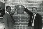 Washington Center, dedication plaque