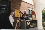 Barbara Ying Center, opening ceremony 1996, revealing the dedication plaque