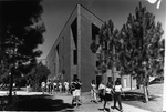 Education Building - students leaving, 1990