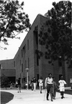 Education Building - students leaving