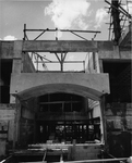 Math and Physics Building under construction - entrance