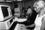 Brevard computer lab - student on computer