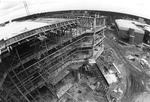 Library - construction of the extension, 1984 - concrete floors and ceilings