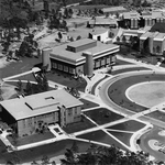 Library - 1970's aerial view
