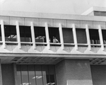 Library - cameraman on balcony